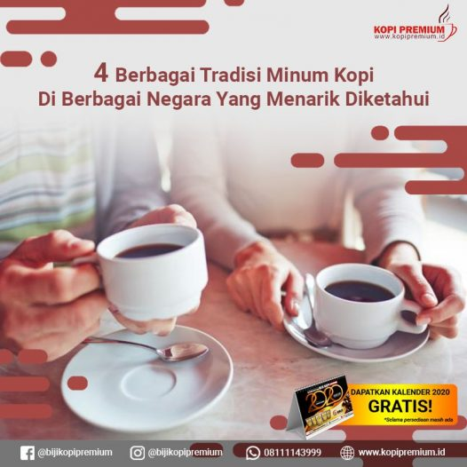 tradisi minum kopi