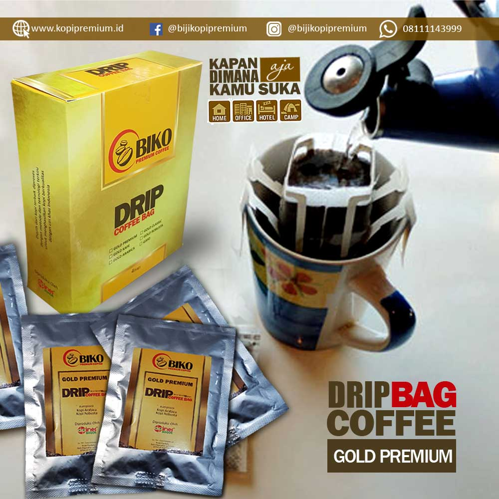Kopi Biko Drip Bag Gold Premium