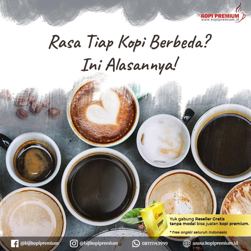 rasa kopi berbbeda-beda